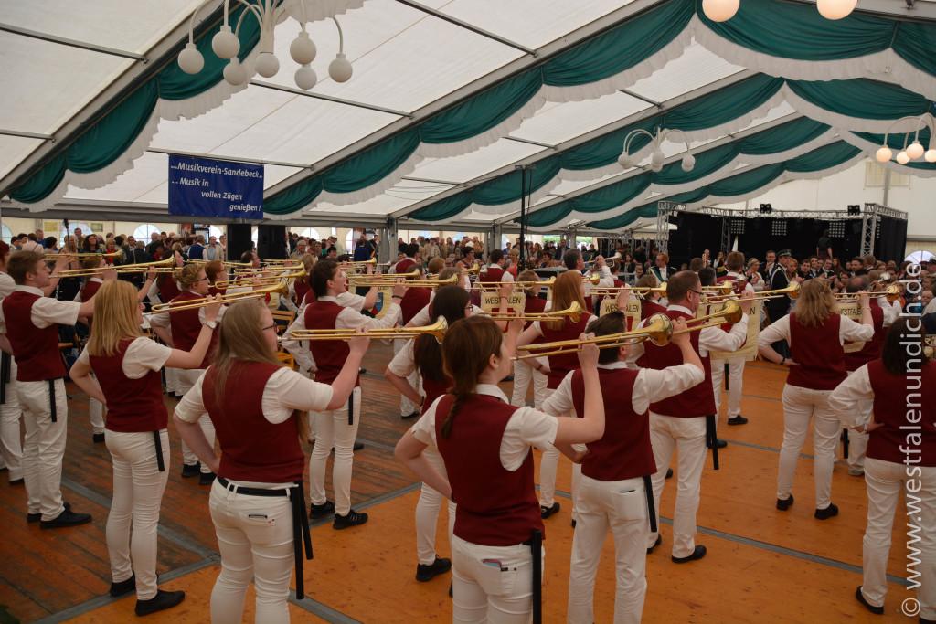 Schützenfest Vinsebeck 2015 - Musik - Bild 01
