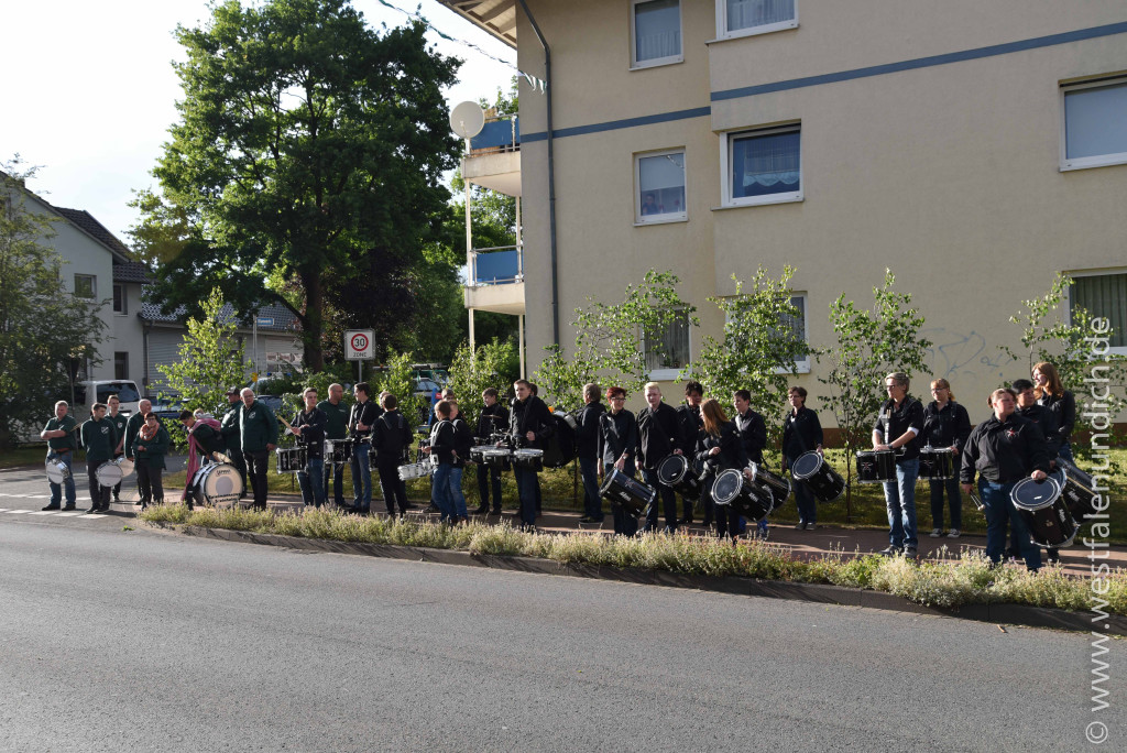 Jubiläumsschützenfest 2015 - Donnerstag - Spielmannszug Steinheim