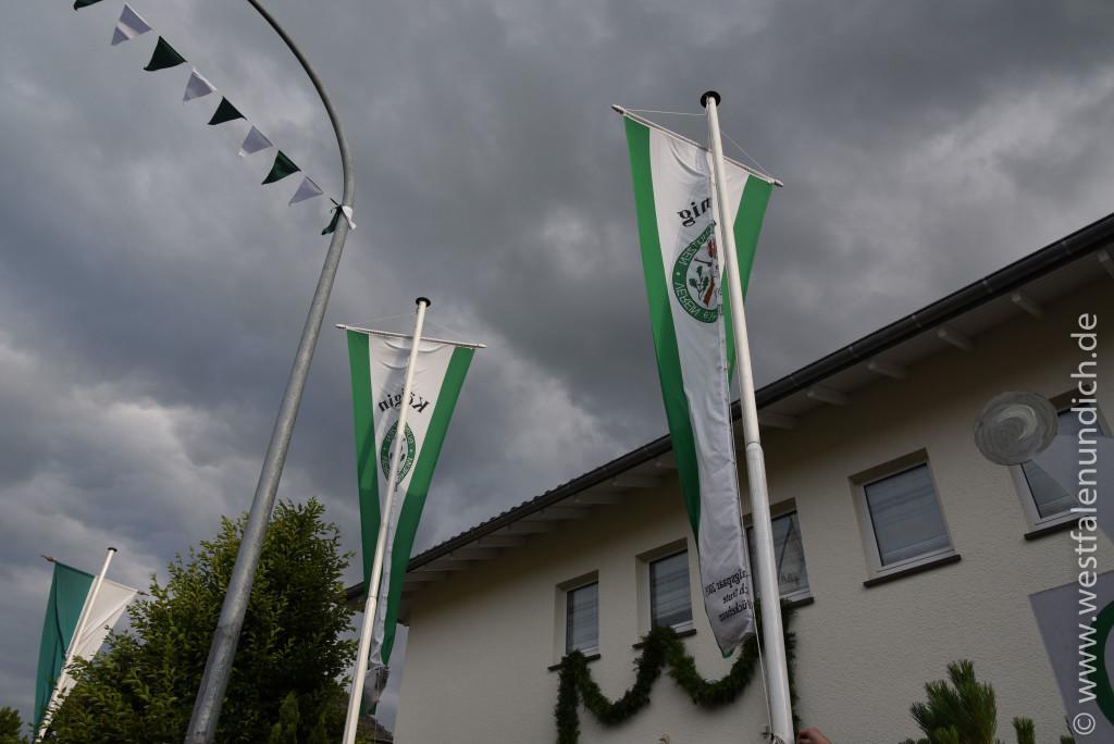 Jubiläumsschützenfest 2015 - Donnerstag - Fahne