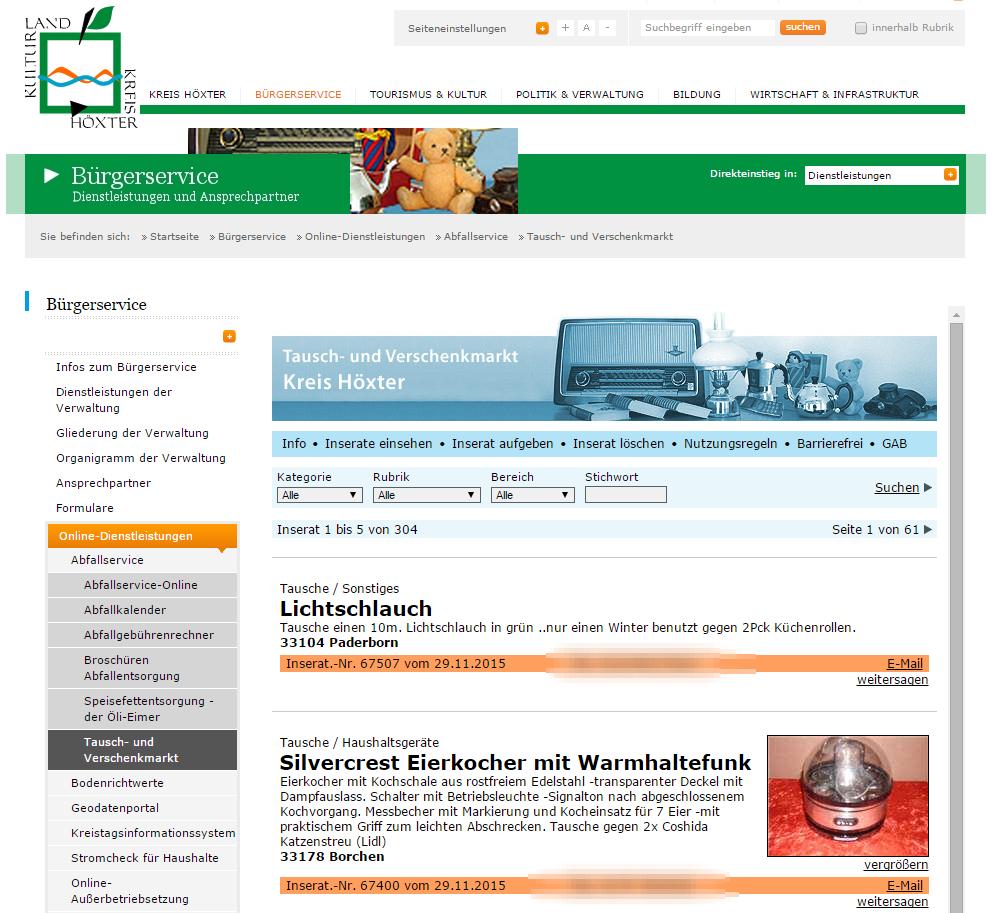 Kreis Höxter - Tausch- und Verschenkmarkt - Bild 01