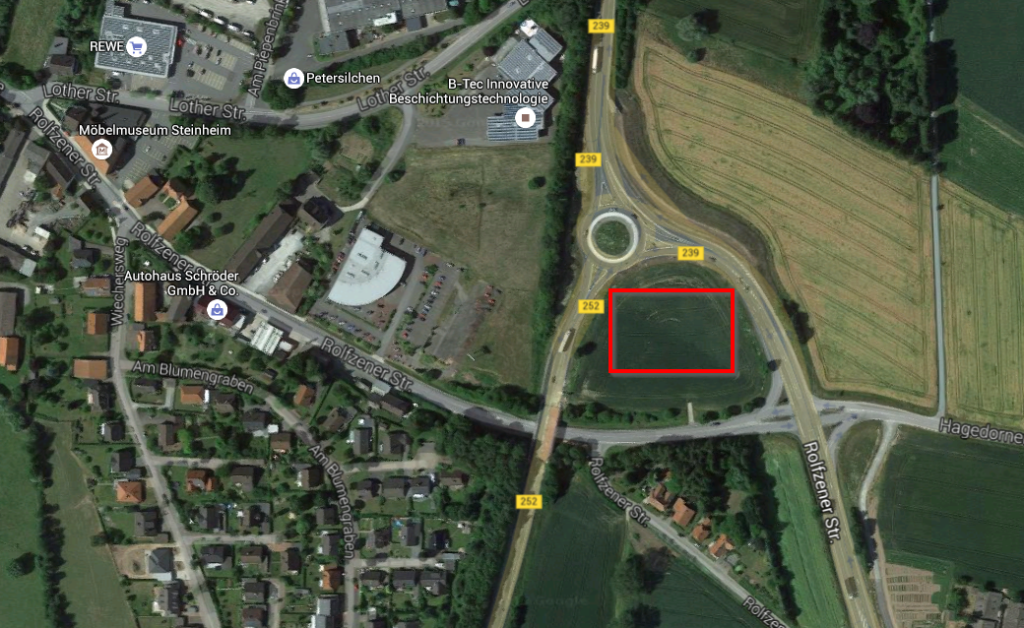 Steinheim - Kurz vor Karneval 2016 - Bild 04 - Ausschnitt aus Google Maps