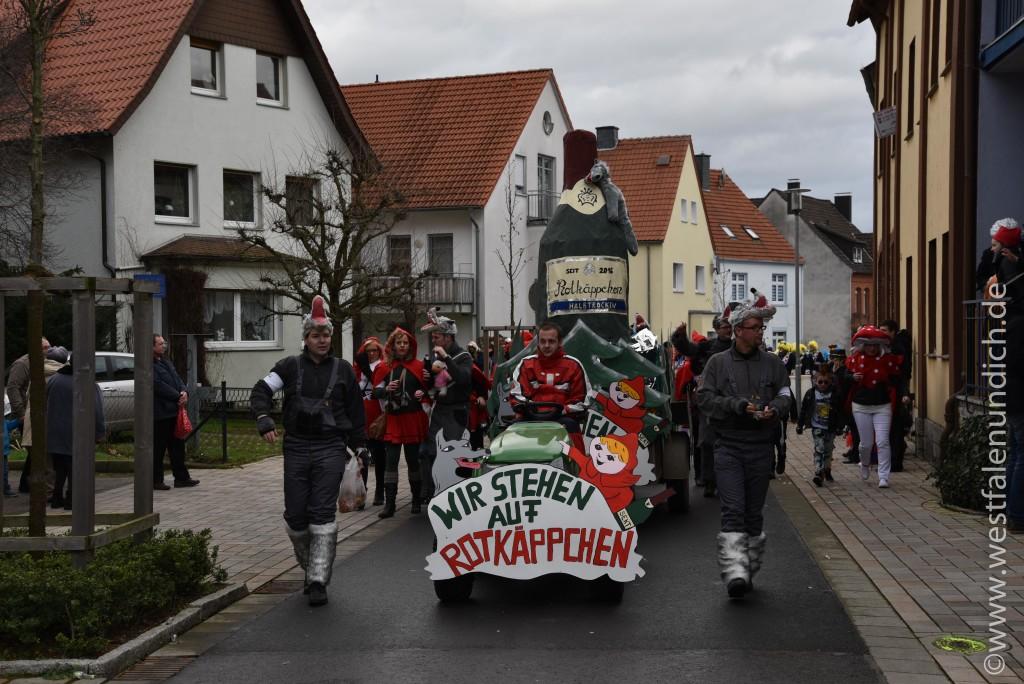 Rosenmontag 2016 – Steinheim - W17 - Wir stehen auf Rotkäppchen Die Kinder vom Düwelhof - Bild 01