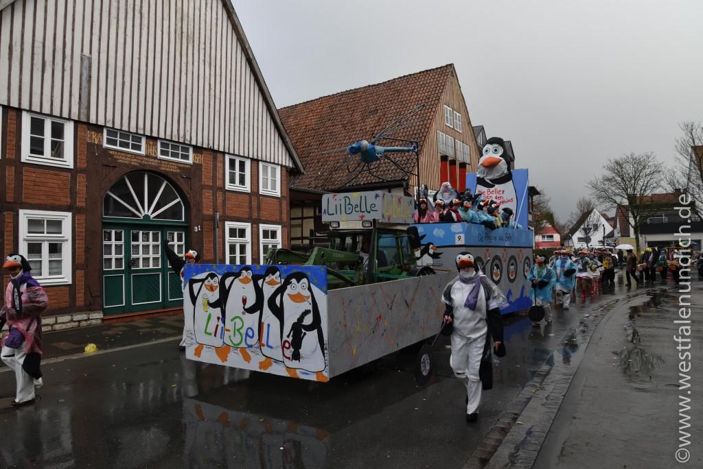 Rosenmontag 2016 – Steinheim - W9 - Die Pinguine aus Madagaskar 1. Beller Karnevalsverein - Bild 02
