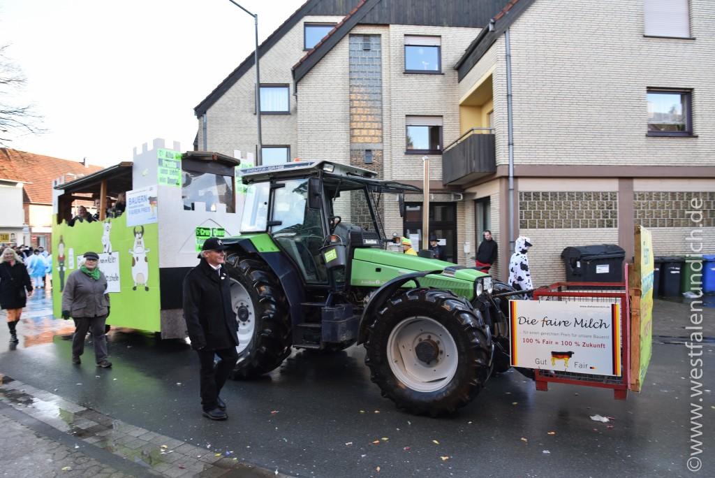 Rosenmontag 2016 – Steinheim - W20 - Crazy Cows for fair milk Team Brinkmann Brakel - Bild 01