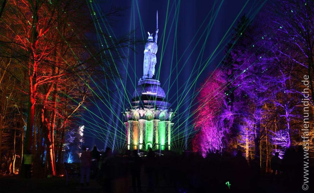 Die LightArt 2016 am Hermannsdenkmal - Bild 02