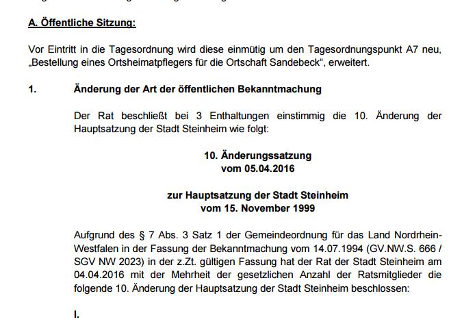 Steinheim - Amtliche Bekanntmachungen nun im Internet - Bild 02