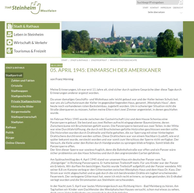 Steinheim - Private Stadtgeschichten - Bild 01