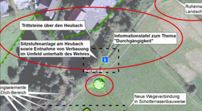 Grabsteinfragmente in der Nähe des Heubachs/Emmer - Bild 05 - Quelle: Auszug aus dem Dokument 20160614 Übersicht1.BA Emmeraue (öffentlich) aus dem Ratsinformationssystem