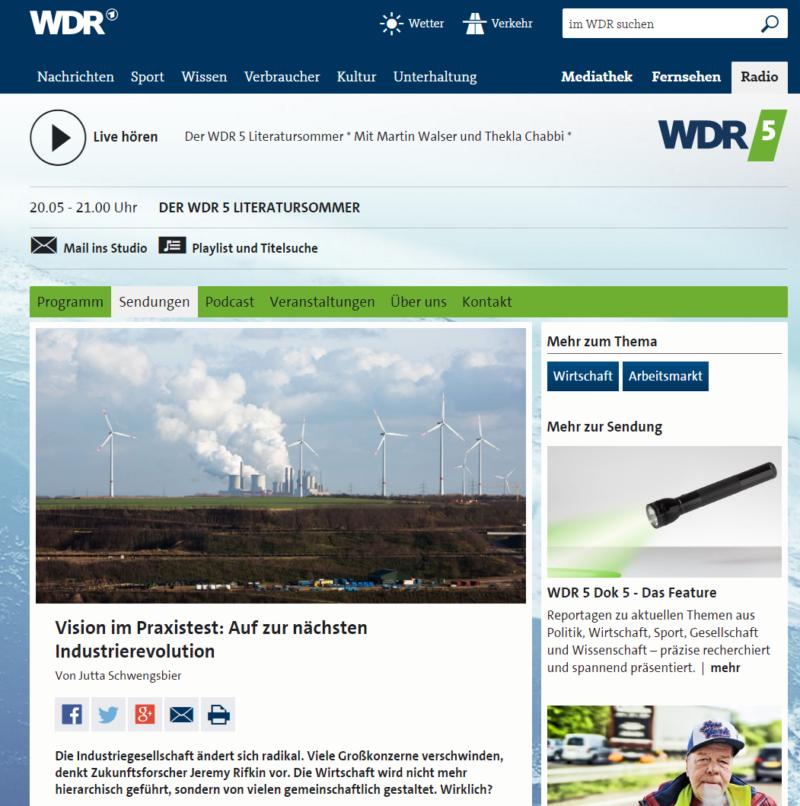 Bioenergieregion Kreis Höxter im Radio - Bild 01