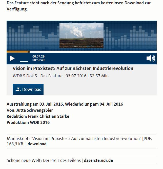 Bioenergieregion Kreis Höxter im Radio - Bild 03