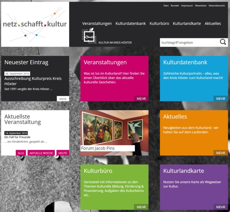 Kreis Höxter - Internetseite 'Netz schafft Kultur' - Bild 07