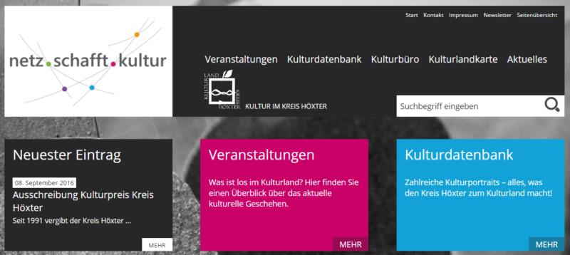 Kreis Höxter - Internetseite 'Netz schafft Kultur' - Bild 08