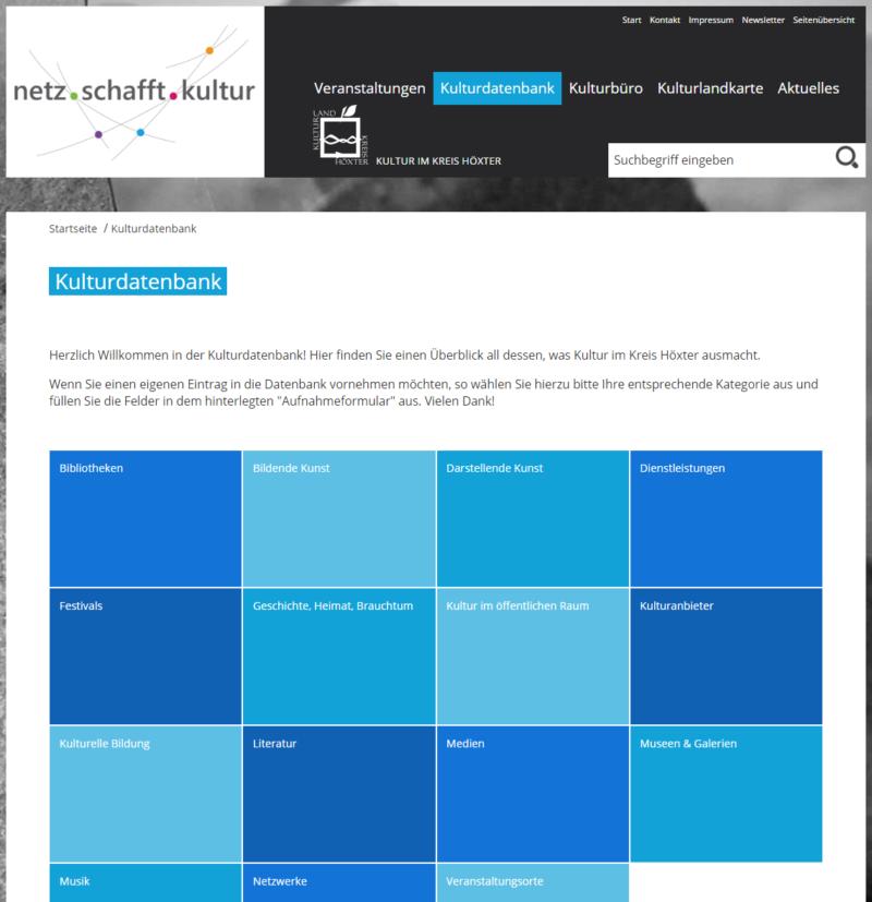 Kreis Höxter - Internetseite 'Netz schafft Kultur' - Bild 04
