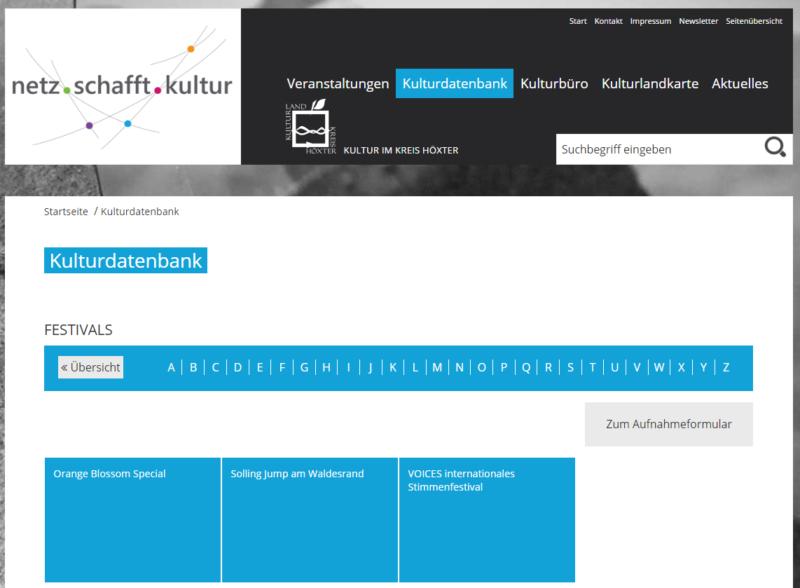 Kreis Höxter - Internetseite 'Netz schafft Kultur' - Bild 05