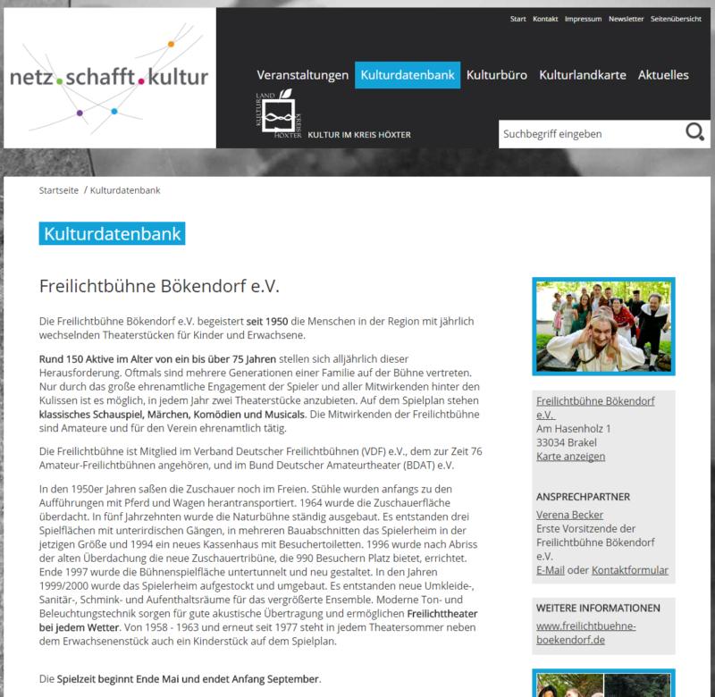 Kreis Höxter - Internetseite 'Netz schafft Kultur' - Bild 09