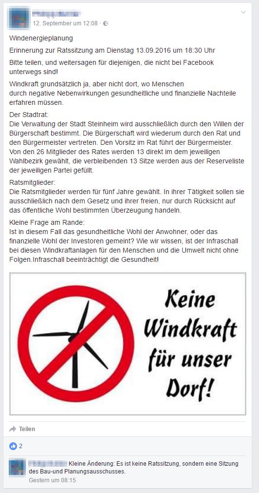 Steinheim - Protest gegen Windkraft - Bild 04 - Quelle: https://www.facebook.com/philipp.buhler.1